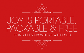 joy is portable and free bring it with you always